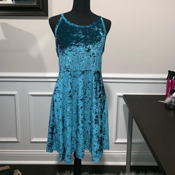 Angie Dresses & Skirts - ⭐️NEW⭐️ Blue Velvet Dress